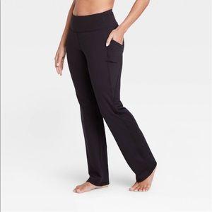 Women's contour highwaist straight leg pants black